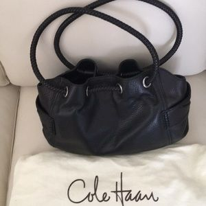 Cole Haan leather bag,hand or shoulder,gently used